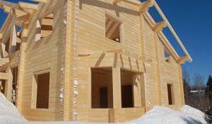 Дом из зимнего бруса