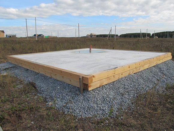 Сплошной плиточный фундамент