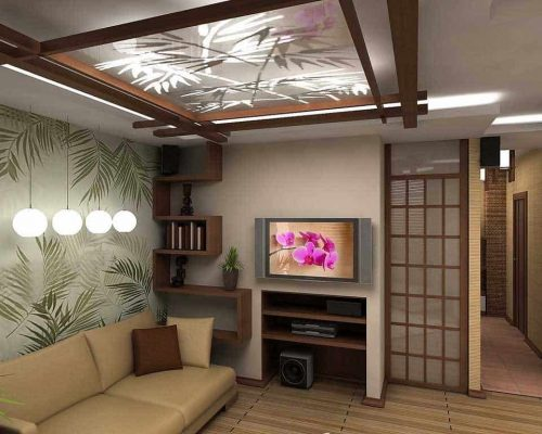 Японский стиль - сад в интерьере