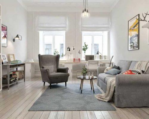 Скандинавский стиль - Современный дизайн интерьера комфортной квартиры